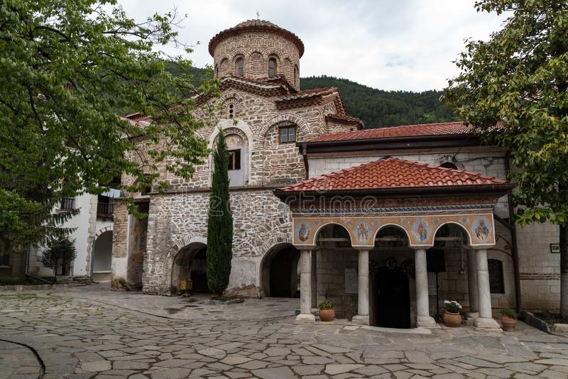 Buildings in Medieval Bachkovo Monastery Dormition of the Mother of God. Bulgaria stock images