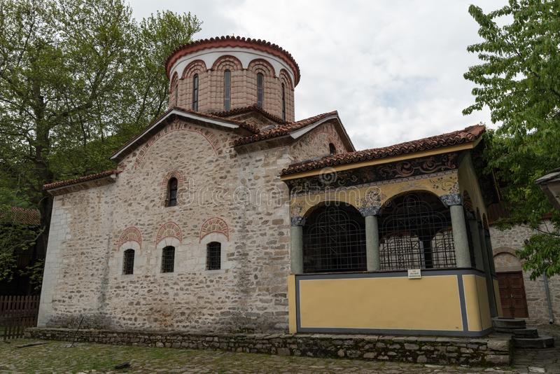 Buildings in Medieval Bachkovo Monastery Dormition of the Mother of God. Bulgaria royalty free stock images