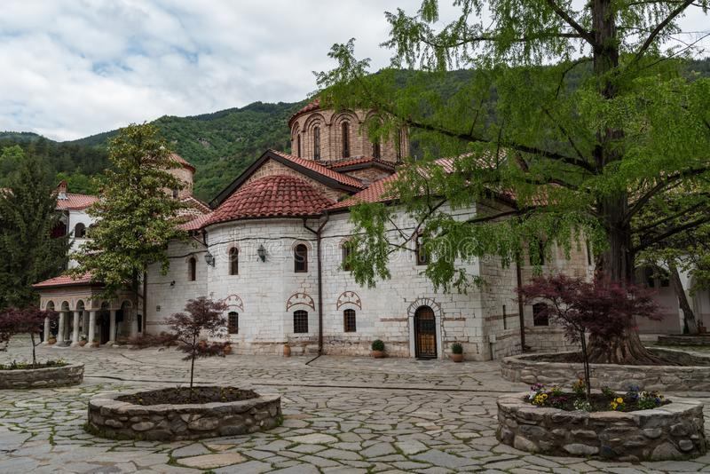 Buildings in Medieval Bachkovo Monastery Dormition of the Mother of God,. Bulgaria royalty free stock photography