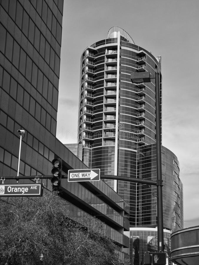Buildings in the middle of the city royalty free stock photography