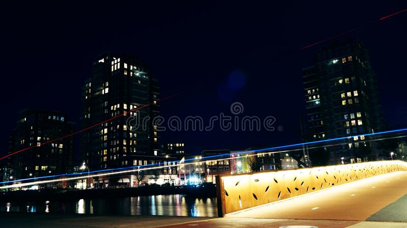 Buildings Near Body Of Water During Nighttime Free Public Domain Cc0 Image