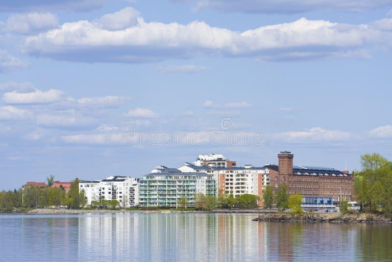 Download Buildings near lake shore stock photo. Image of ranta - 9544014