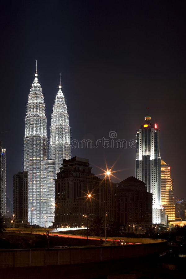 Download Buildings at Night stock photo. Image of night, district - 3102504