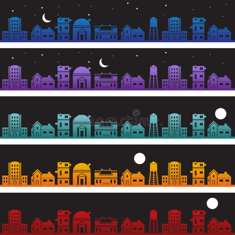 Download Buildings At Nighttime Background Set Royalty Free Stock Photos - Image: 9264888