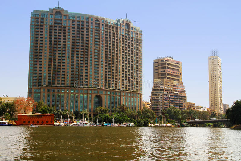Download Buildings At Nile River In Cairo, Egypt Stock Image - Image: 24919993