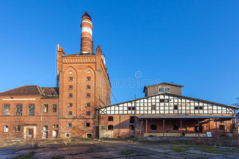 The buildings of the old factory stock image