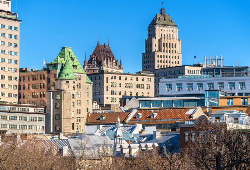 Buildings in the old town of Quebec City, Canada. Buildings in the old town of Quebec City - Canada stock photography