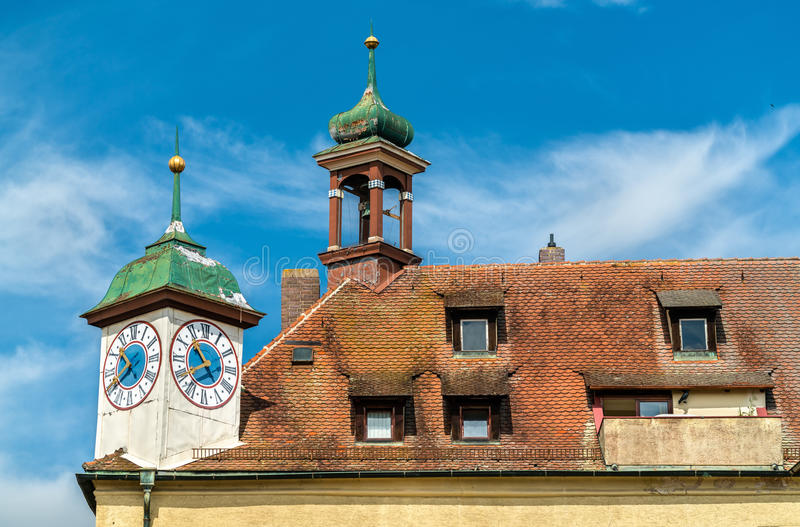 Buildings in the Old Town of Regensburg, Germany royalty free stock photo