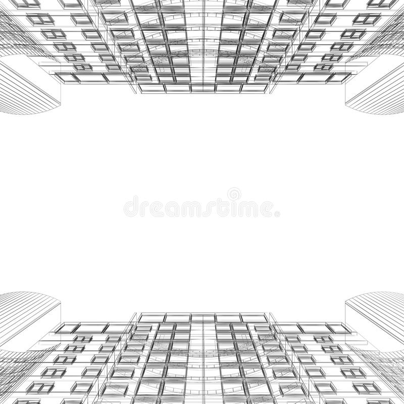 Download Buildings opposite stock illustration. Image of project - 17870324