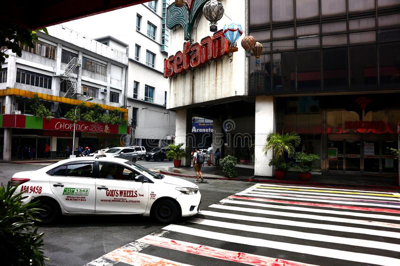 Buildings and other residential and commercial establishments inside the Araneta Center. QUEZON CITY, PHILIPPINES – AUGUST 24, 2019: Buildings and other stock photo
