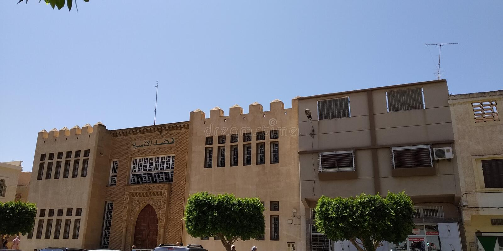 Buildings in Oujda Morocco. Generic Building in Oujda Morocco. Arabic Style stock image