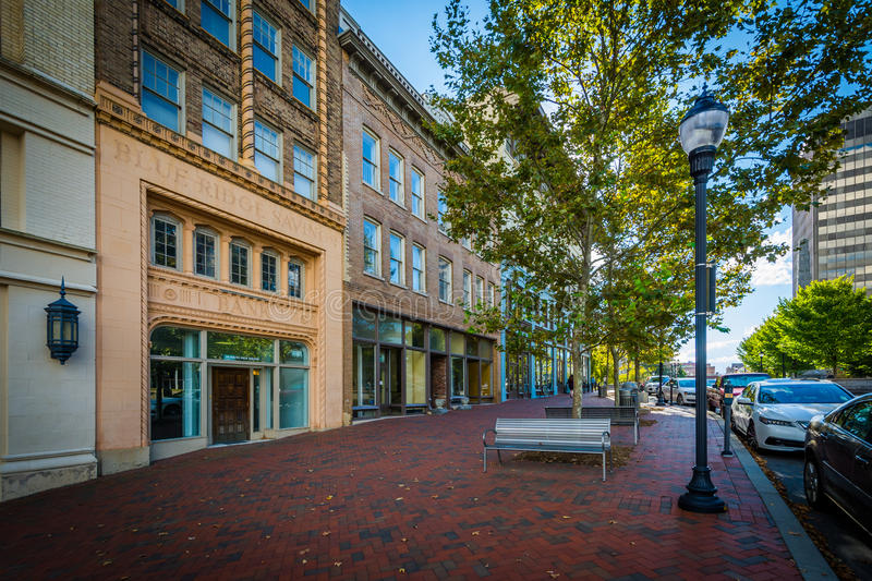 Buildings at Pack Square, in downtown Asheville, North Carolina. royalty free stock image