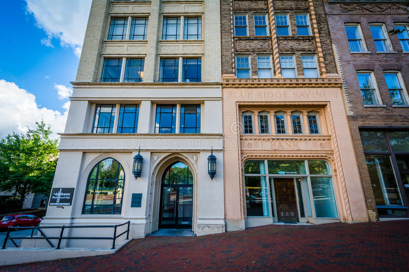 Buildings at Pack Square, in downtown Asheville, North Carolina. royalty free stock photos