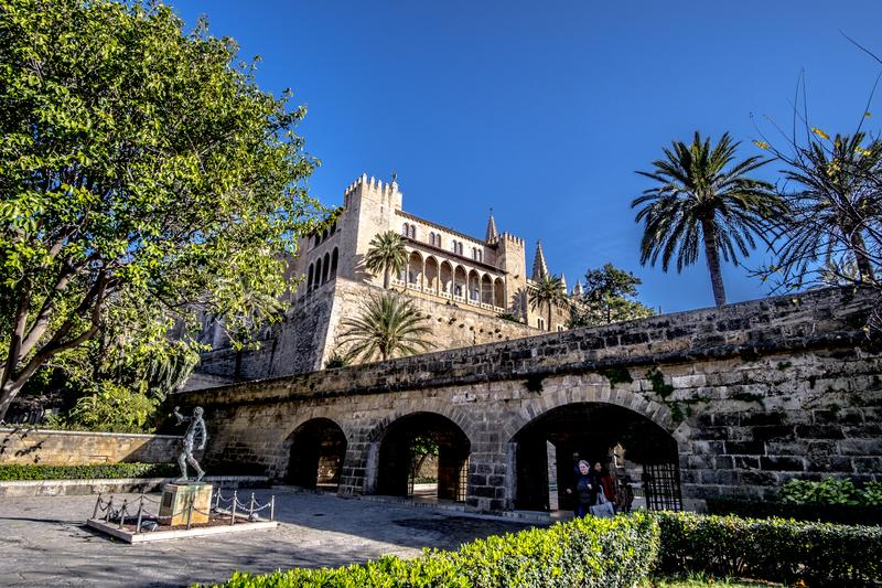Buildings in center of Palma de Mallorca, Spain. Buildings in Palma de Mallorca, Spain stock photos