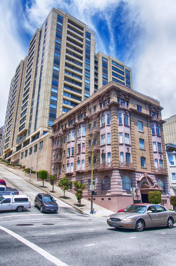 San Francisco City Streets and architecture royalty free stock photo