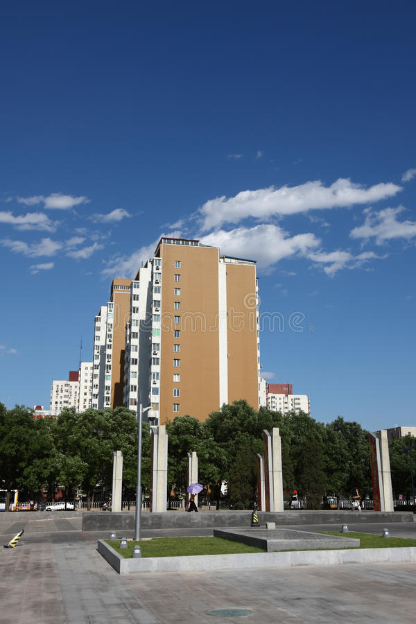 Download Buildings and plaza stock image. Image of blue, china - 23756501