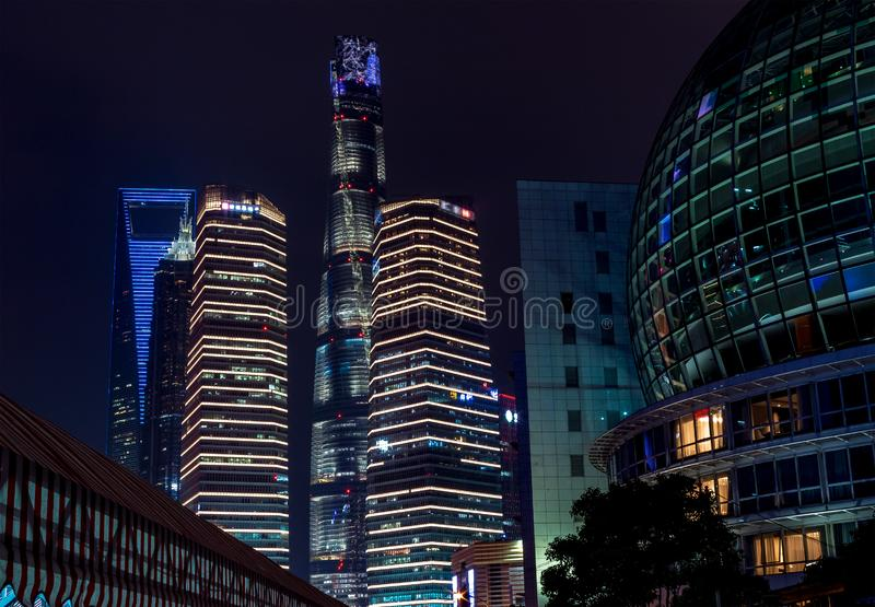 Buildings in Pudong is modern district of Shanghai. In China royalty free stock photos
