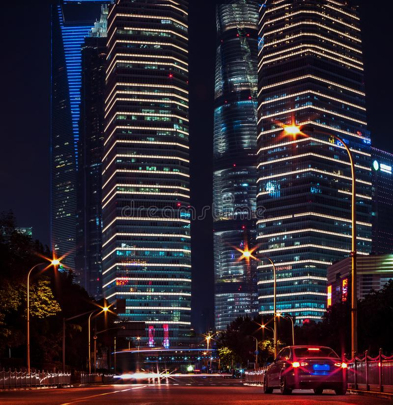 Buildings in Pudong is modern district of Shanghai. In China royalty free stock photography