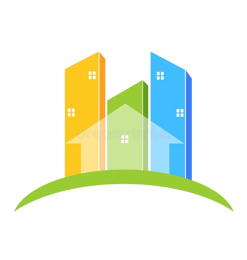 Buildings real estate logo royalty free illustration