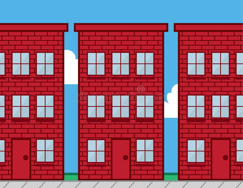 Download Buildings Red Brick stock vector. Image of business, exterior - 32509355