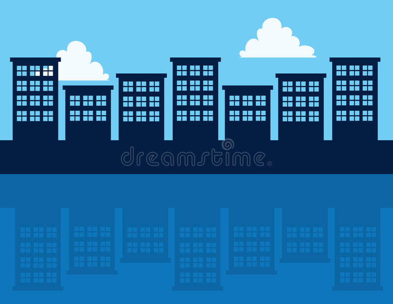 Download Buildings Reflection stock vector. Image of outdoors - 33922314
