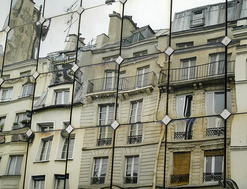 Buildings reflections on mirror facade. The buildings reflections on mirror facade stock photo