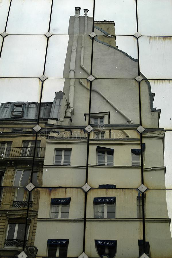 Buildings reflections on mirror facade. The buildings reflections on mirror facade royalty free stock image