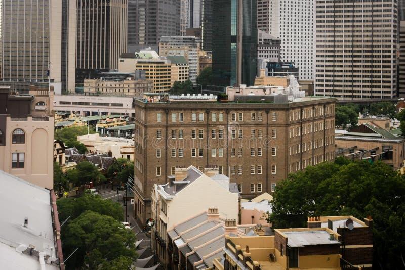 Buildings in The Rocks, Sydney, Australia stock photo