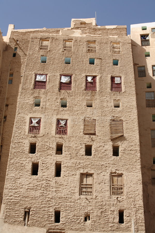 Buildings in Shibam, Yemen royalty free stock images