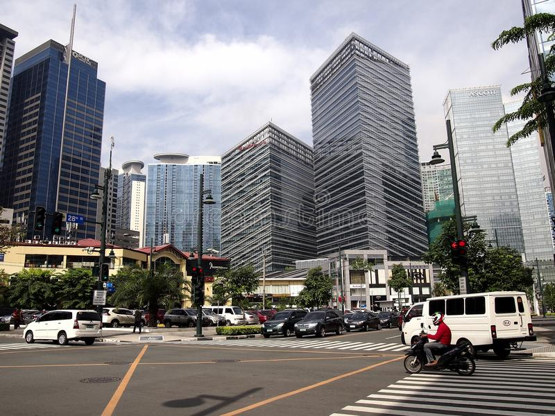 Buildings and skyscrapers at the Bonifacio Global City. stock photo