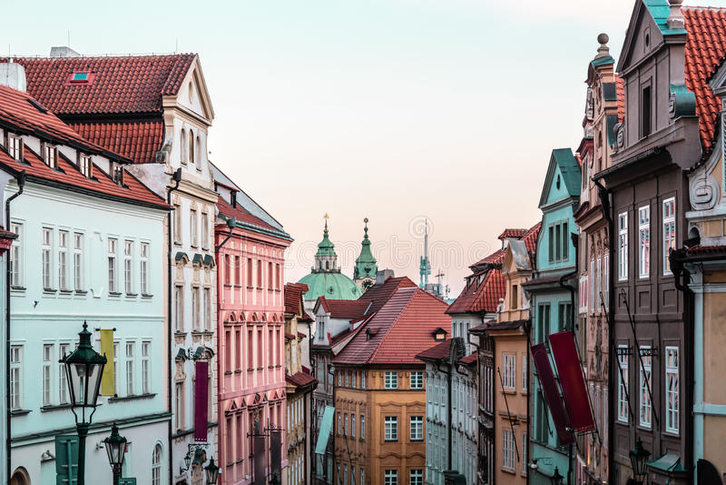 Buildings and Streets of Prague, Czech Republic stock photos
