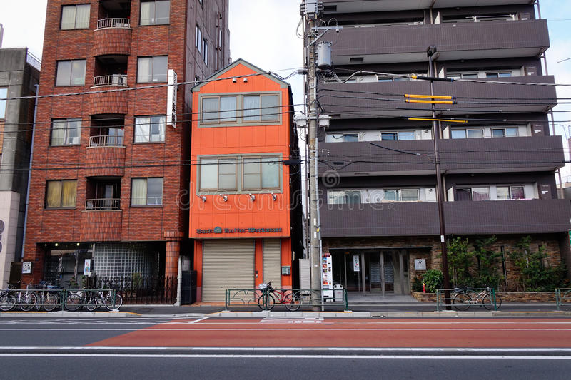 Buildings at Taito district in Tokyo, Japan stock image