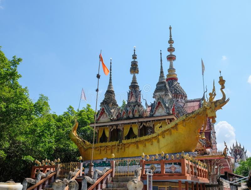 Buildings in temples, Buddhism in Thailand, sky background stock photos