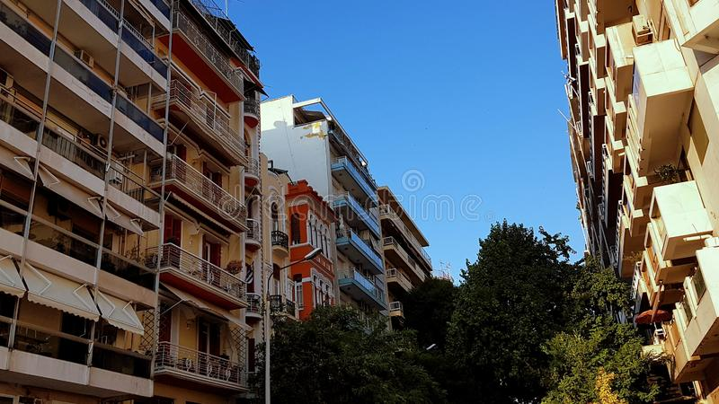 Buildings in Thessaloniki city centre, Greece stock image