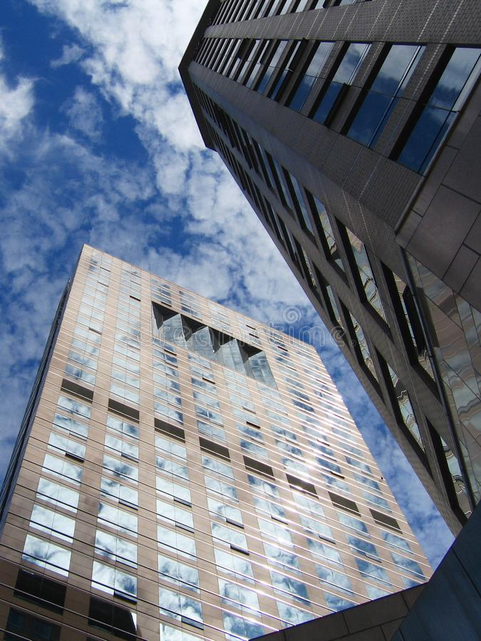 Buildings under sky stock photo