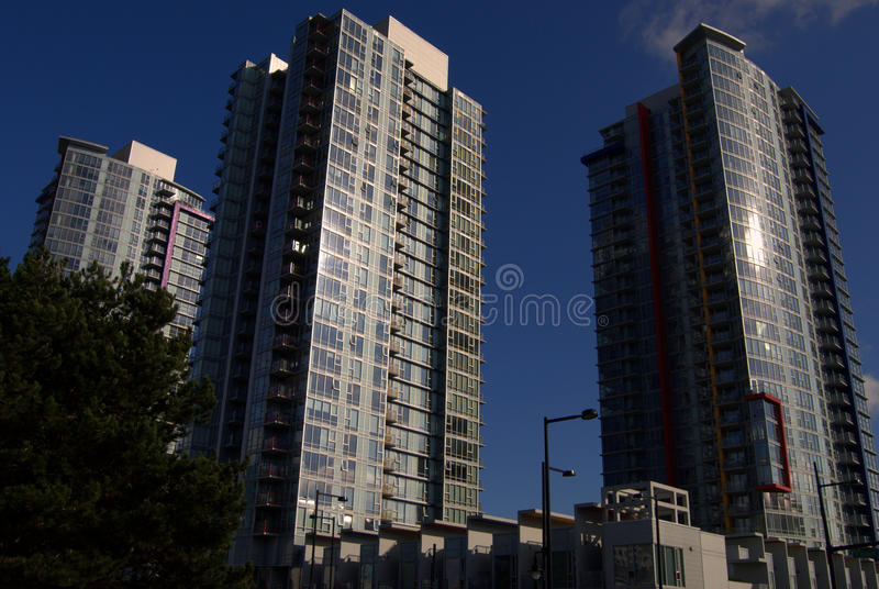 Buildings in Vancouver royalty free stock photo
