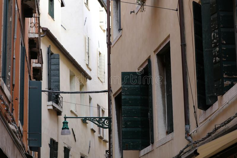 Venetian Gothic style buildings in Venice, Italy royalty free stock photo