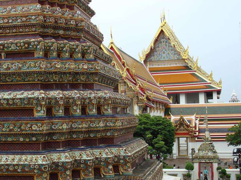 Buildings of Wat Pho, Bangkok, Thailand royalty free stock image