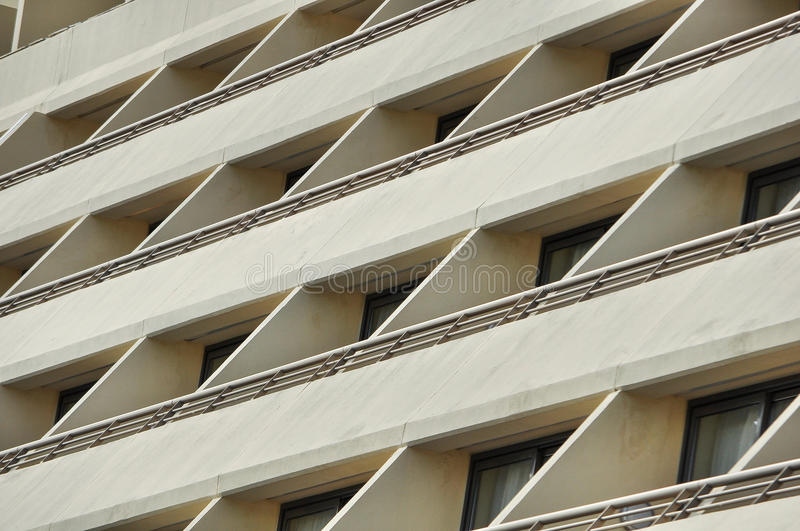 Buildings windows and balconies stock photography