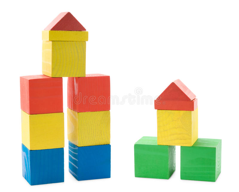 Download Buildings From Wooden Blocks Stock Images - Image: 23810914