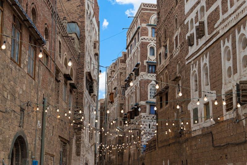 Buildings in Yemen royalty free stock images