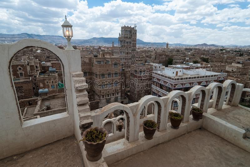 Buildings in Yemen stock photos