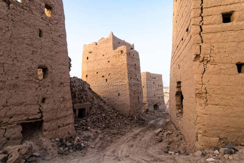 Buildings in Yemen royalty free stock photography