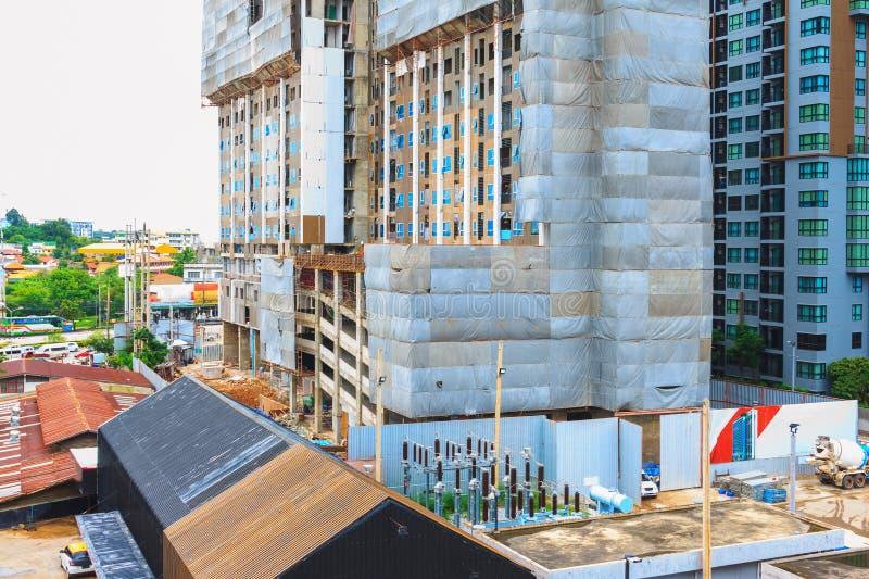 buildling现代建筑的高公寓房 库存照片