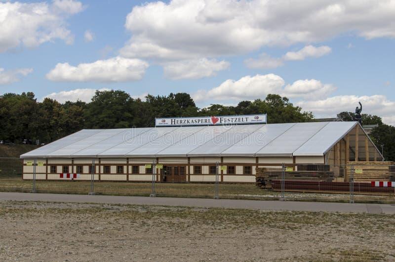 Buildup Oktoberfest namioty przy Theresienwiese w Monachium, 20 obrazy royalty free