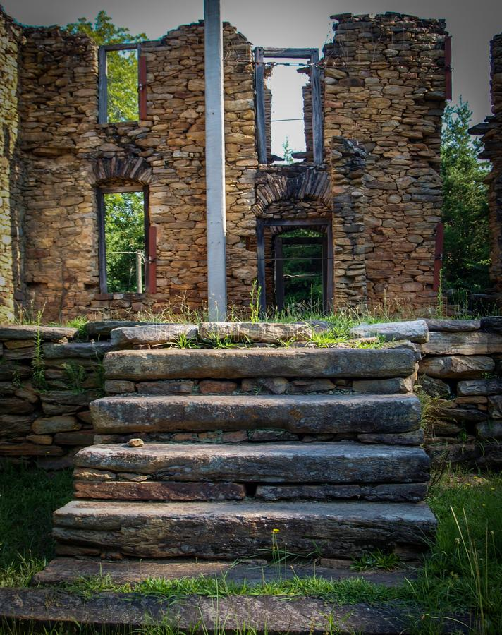 Colonel John Martin Rock House. Built around 1785, the Rock House, also known as the John Martin House, is a historic home located near King, Stokes County royalty free stock photography