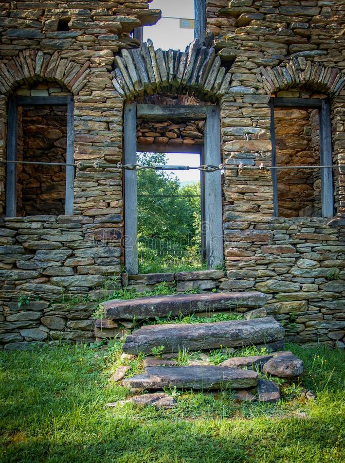 Colonel John Martin Rock House. Built around 1785, the Rock House, also known as the John Martin House, is a historic home located near King, Stokes County stock image