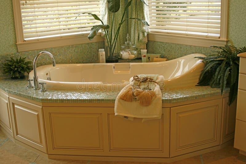 Built-in bathtub royalty free stock photo