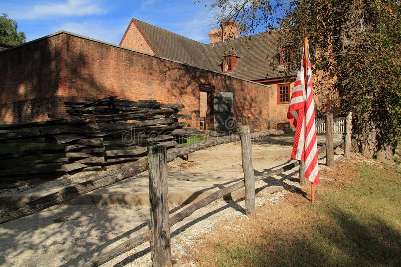 Public Gaol. Built in the early eighteenth century, the Public Gaol served as the main prison in Colonial Williamsburg October 6, 2017 in Williamsburg, VA stock image