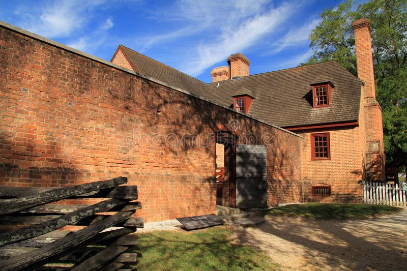 Public Gaol. Built in the early eighteenth century, the Public Gaol served as the main prison in Colonial Williamsburg October 6, 2017 in Williamsburg, VA stock photo